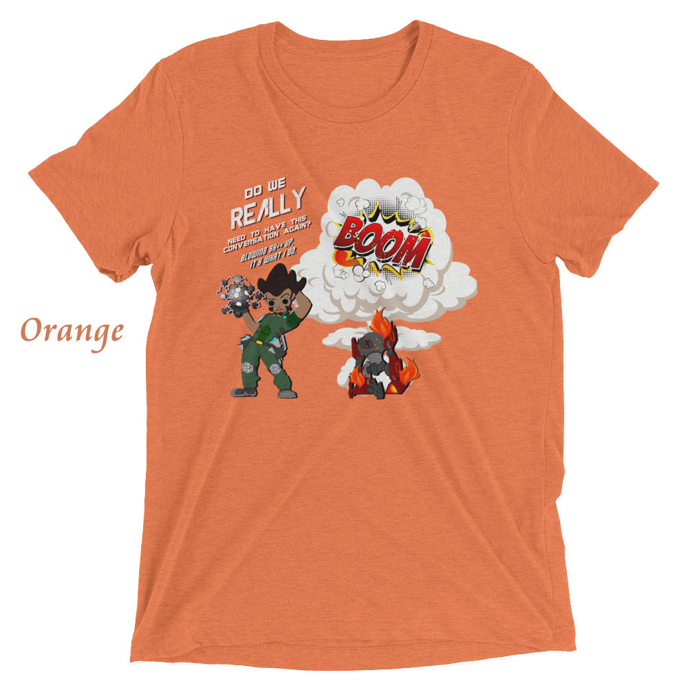 NerdyUrges Franklin Blowin Shit Up Tshirt Orange
