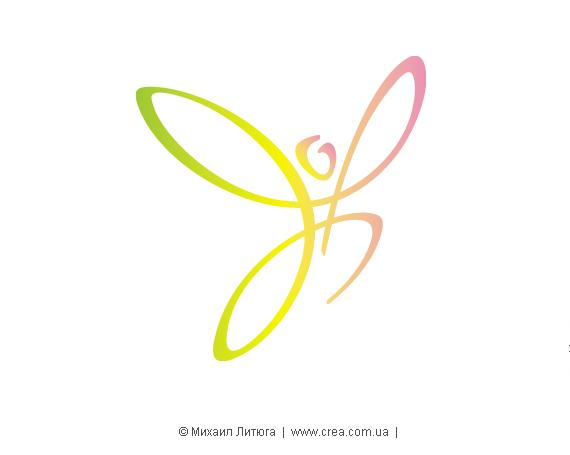 Знак благотворительной социальной программы «Легко дышать - легко жить»- в авторских цветах