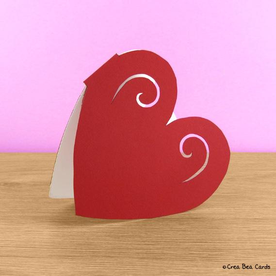 Heart Shaped Card Crea Bea Cards