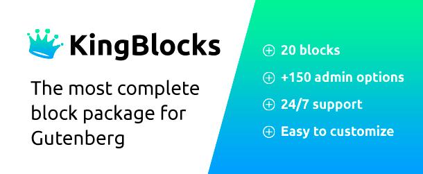 KingBlocks - Amazing Gutenberg Blocks