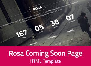 Rosa - Responsive Coming Soon Template