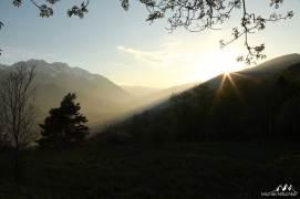 Coucher soleil Val d'Aoste