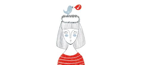 Ilustración pájaro