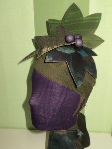 cabeza de venda de yeso