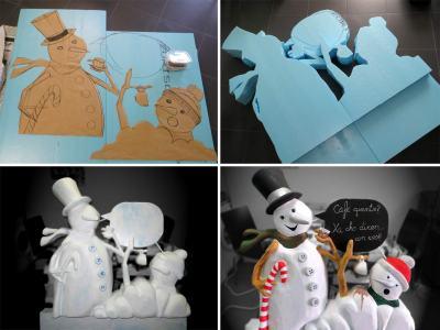 proceso muñeco de nieve