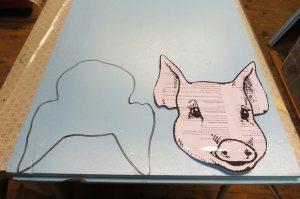 plantilla cerdo