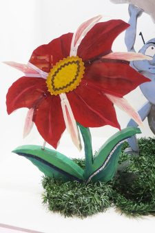 flor de lazos y cremalleras