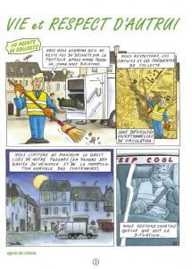 Communication BD: La charte qualité des déchets en Bande Dessinée-p2
