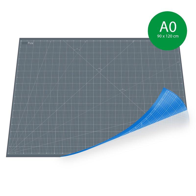 tapis de decoupe a0 90x120cm gris bleu