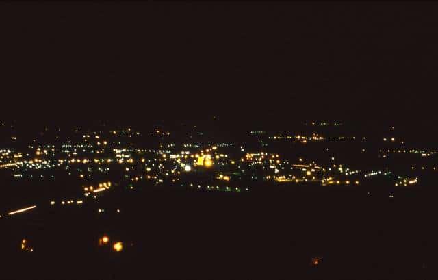 Assisi - Vista notturna sulla città nuova