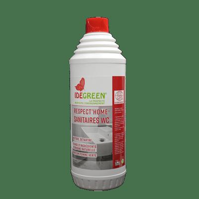 Gel Nettoyant Détartrant Sanitaires et WC ecocert Respect Home bidon 1 litre
