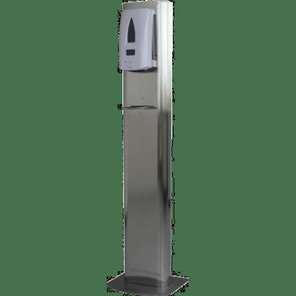 Station distributeur gel hydroalcoolique sur pied inox San'inov