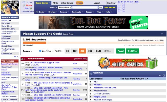 BGG Homepage