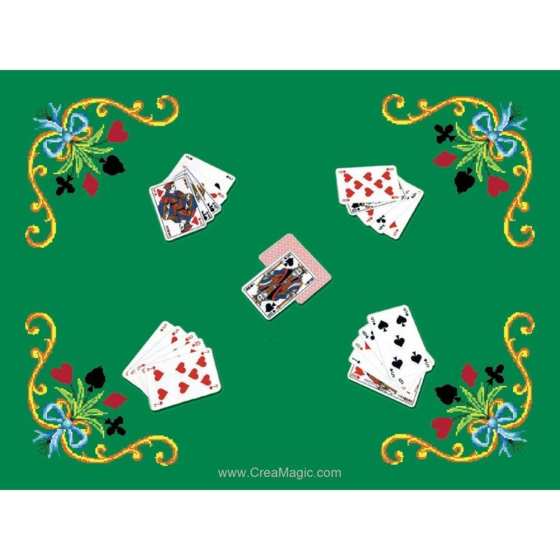 tapis de jeux pour cartes luc creation
