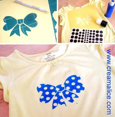 Tee-shirt Nœud à pois