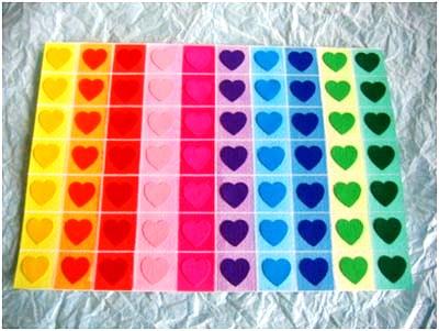 Carte Cœurs Multicolores