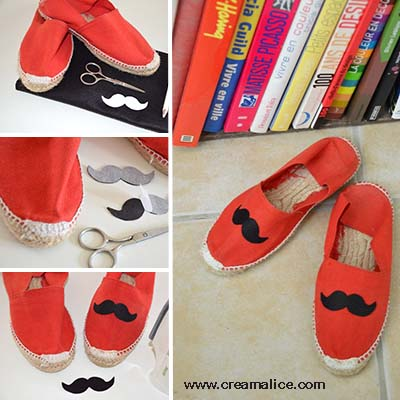 diy-customisation-espadrilles-moustache