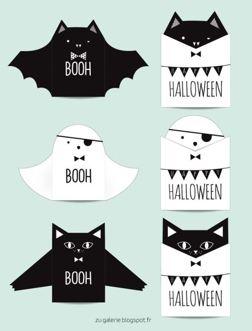 diy carte Halloween à imprimer