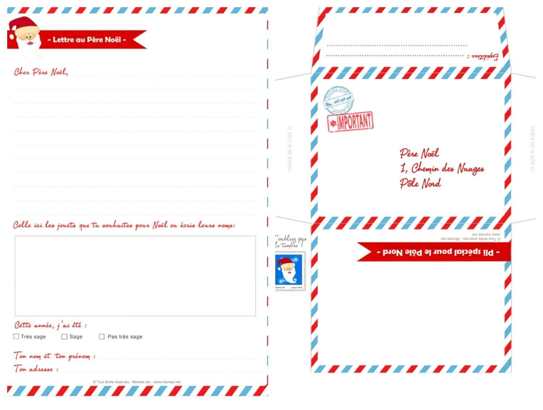 {Printable} Lettres au Père Noël