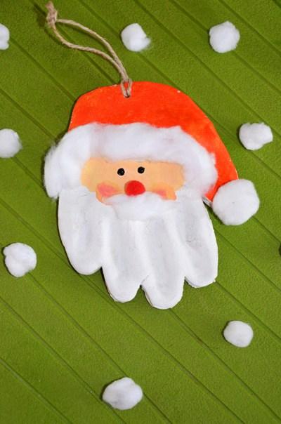 Diy Déco Empreinte De Main Père Noël En Pâte à Sel