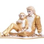 Michael Jackson et Bubbles Jeff Koons