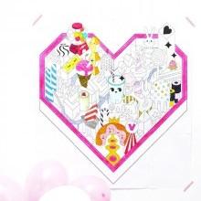 diy coloriage géant coeur Saint valentin à imprimer