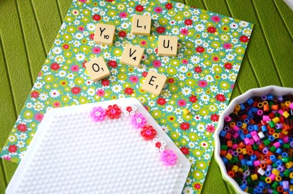 diy cadre déco lettres Scrabble