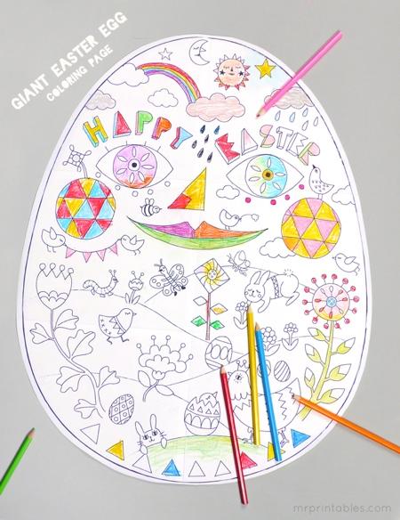printable-coloriage-geant-œuf-Paques