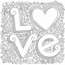 coloriages cœurs Saint Valentin à imprimer gratuitement