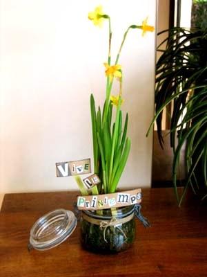 diy déco récup bocal à fleurs