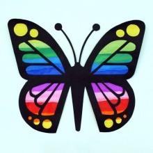 bricolage enfants attrape-soleil papillon