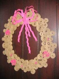 diy couronne spirales caton