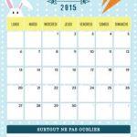 diy calendrier Avril 2015 à imprimer