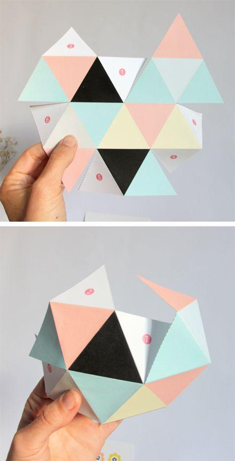 diy petite boîte géométrique à imprimer gratuitement3