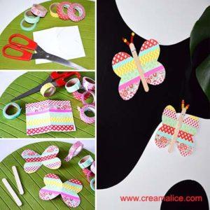 diy magnet papillon masking tape