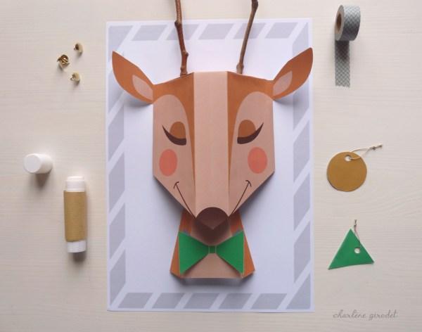 DIY+Renne+de+Noël+en+papier+-+Charlène+Girodet