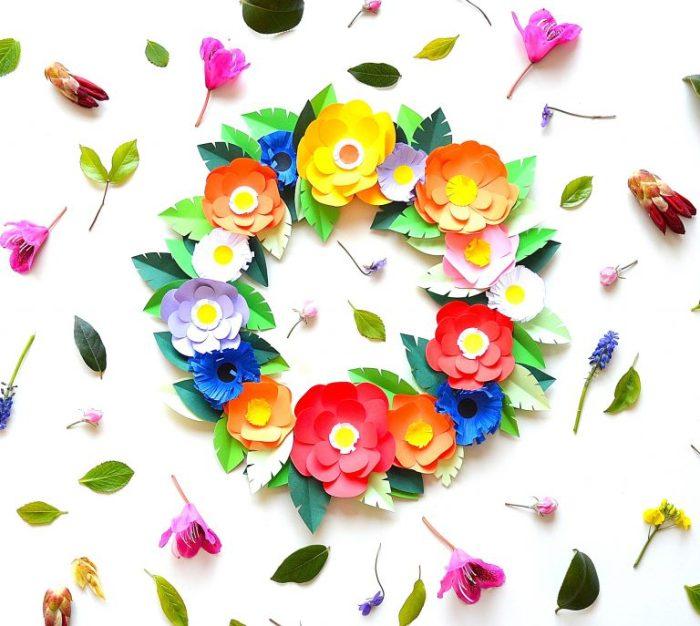 diy-couronne-fleurs-papier-fetedesmeres