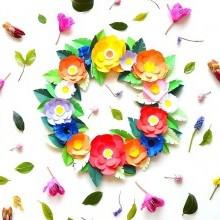 diy-couronne-fleurs-papier