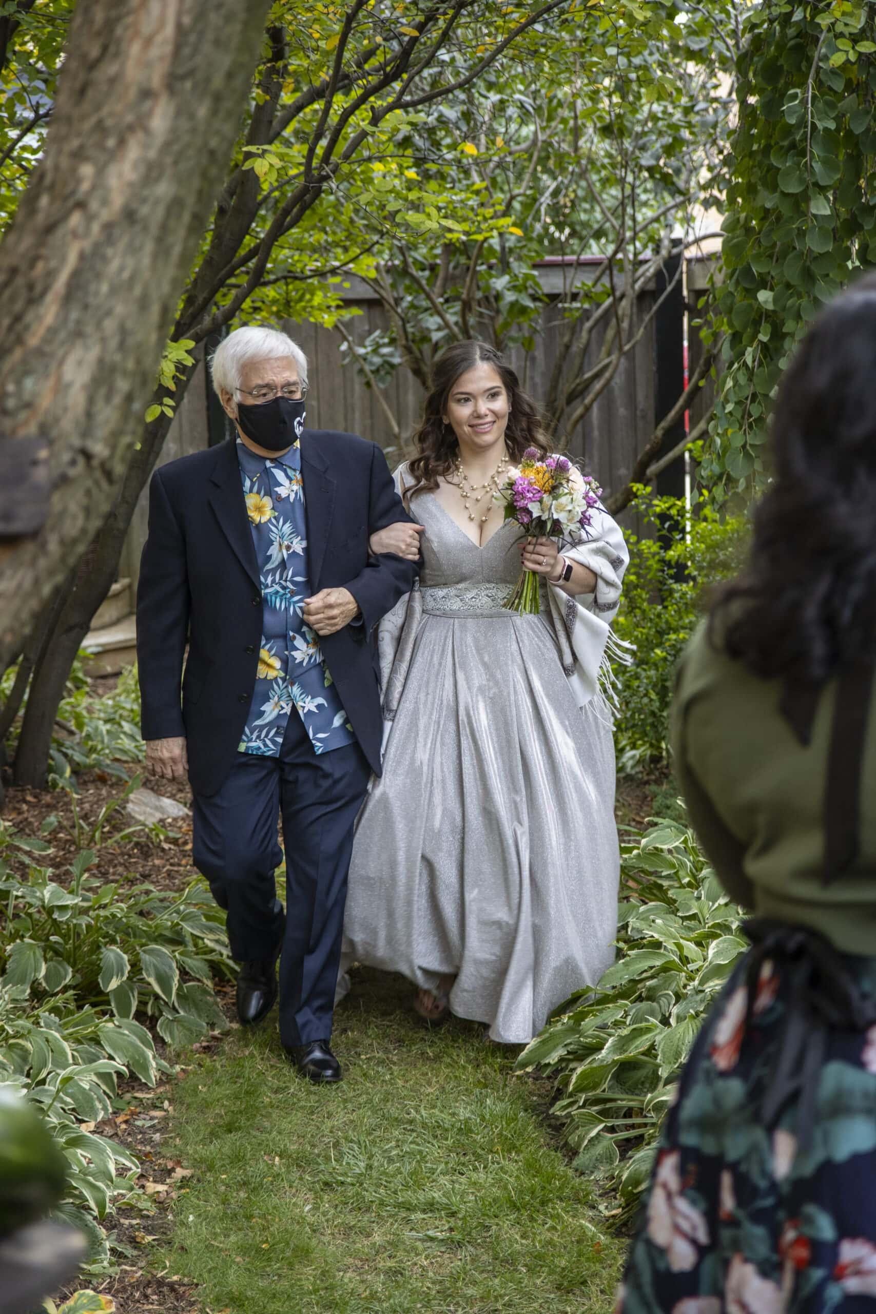Outdoor Garden Wedding Photography Milwaukee WI