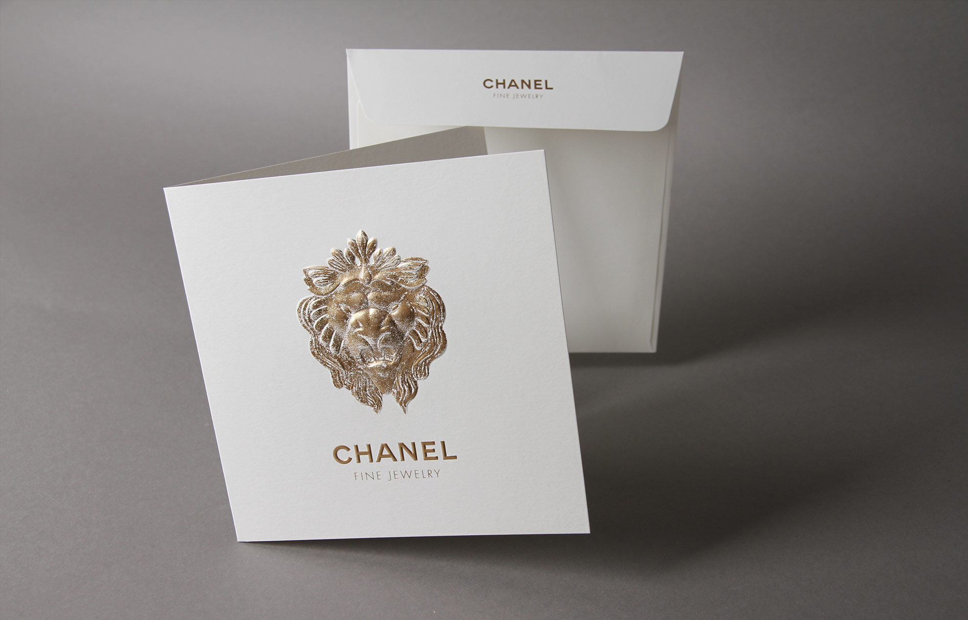 Chanel Joaillerie Gaufrage Marquage Chaud Carte