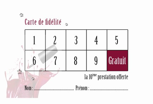 Conception Et Impression De Carte De Fidlit