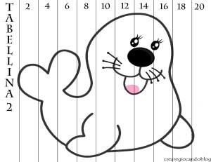 tabellina de 2 foca