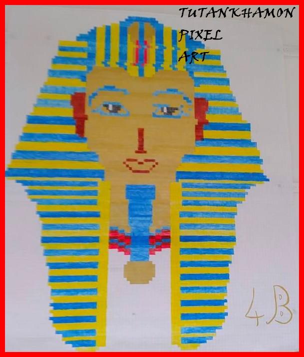 Tutankhamon In Pixel Art Antico Egitto Crearegiocando
