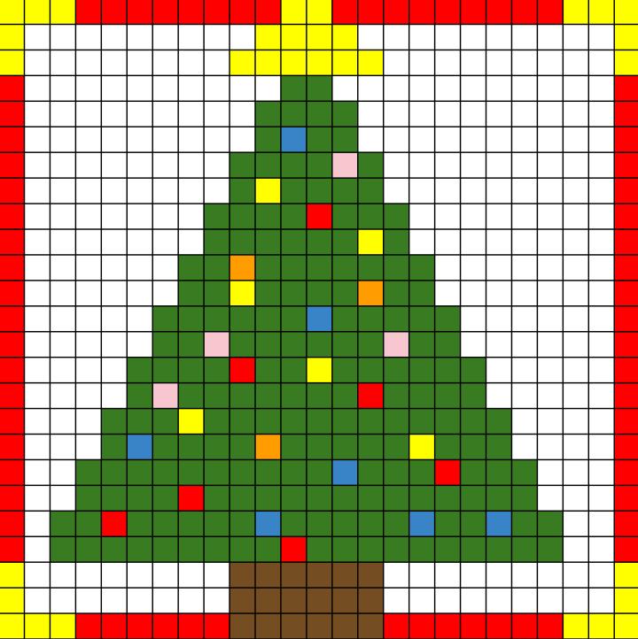 Disegni Di Natale A Quadretti.Albero Di Natale Archivi Crearegiocando
