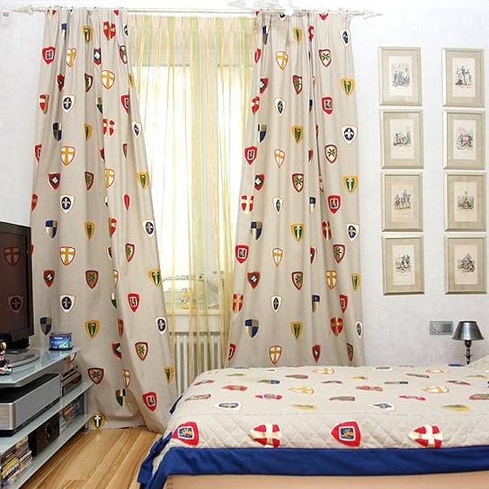 la chambre pour enfant rideaux jetees