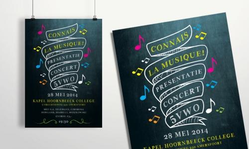 Poster presentatieconcert 5vwo Lodenstein