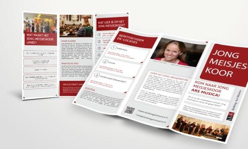 Folder Jong Meisjeskoor Stichting Ars Musica (III)