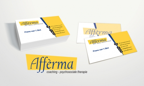 Logo en visitekaartjes Afferma uit Veenendaal