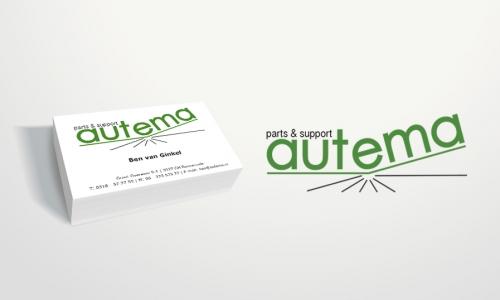Logo en visitekaartjes Autema automaterialen