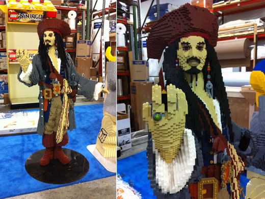 LEGO Model Captain Jack Sparrow